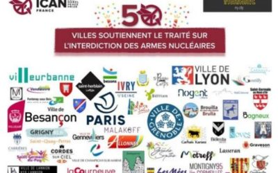 50 villes françaises soutiennent le Traité sur l'interdiction des armes nucléaires